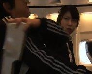 Officelady Groped In Airliner - scene 1
