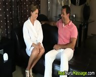 Nuru Masseuse Gets Cum - scene 3