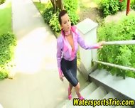 Outdoor Goldenshower Fuck - scene 3
