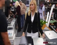 Hot Blonde Milf Sucked And Fucked In Storage Room For Cash - scene 2