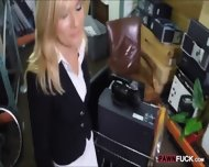 Hot Blonde Milf Sucked And Fucked In Storage Room For Cash - scene 3