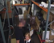 Hot Blonde Milf Sucked And Fucked In Storage Room For Cash - scene 4