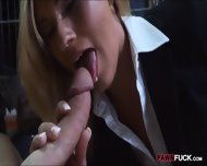 Hot Blonde Milf Sucked And Fucked In Storage Room For Cash - scene 5