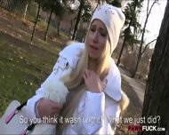 Cute Amateur Blonde Euro Slut Drilled In The Woods - scene 6