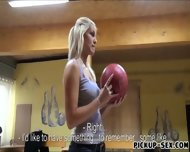 Eurobabe Blanche Flashing Tits And Fucked In Bowling Alley - scene 1