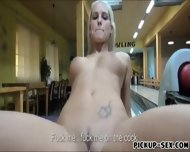 Eurobabe Blanche Flashing Tits And Fucked In Bowling Alley - scene 9