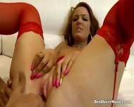 Jodie Lee Gags And Sucks On Old Ben Dovers Cock - scene 8