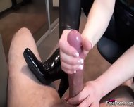 Housewife In Boots Gives Handjob - scene 9