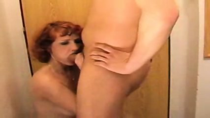 Amateur - Mature Horny redhead gets boned!