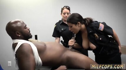 Real blowjob audition and black ebony granny anal Milf Cops