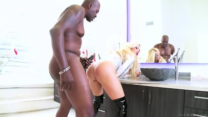 Big Titty Blonde Rammed Hard By Black Dick - scene 5