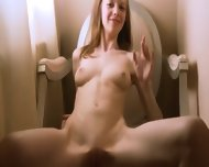 Stripping Of Ultra Skinny Girl On The Chair - scene 4