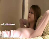 Teen Rubbing One Out Before Going To Sofa - scene 1