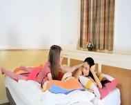 Cute Unbelievable Teen Lesbians - scene 1