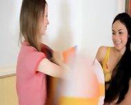 Cute Unbelievable Teen Lesbians - scene 2