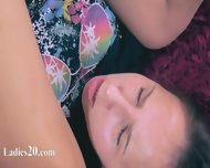Two Horny Schoolmates Having Sex On Red Couch - scene 12
