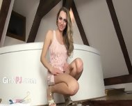 Luxury Kitchen Toy In Her Pussy Pussy - scene 1