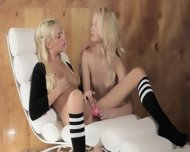Unique Blond Lezzies In Daddys Office - scene 11