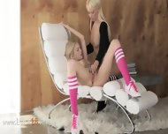 Unique Blond Lezzies In Daddys Office - scene 4