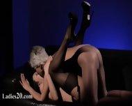 Horny Brunet Sucking Penis Of Rubber - scene 12