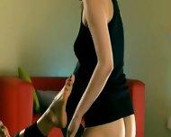Amazing Sweaty Vaginas Love Strap On - scene 9