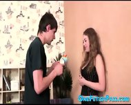 Curly Brunette Gets A Rough Surprise - scene 2