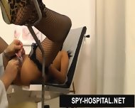 Hot Latina In Fishnet Stockings Gyno Exam Spy Cam Video - scene 6