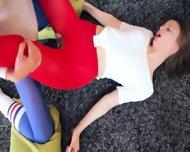 Glamorous Lezzies In Pantyhose Enjoying Strap - scene 9