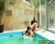 Bisex Bikini Babes Kiss - scene 10