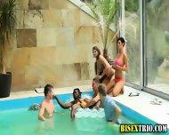 Bisex Bikini Babes Kiss - scene 11