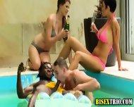 Bisex Bikini Babes Kiss - scene 2