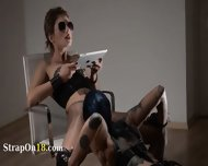Tatto Lezzies Enjoying Havingsex With Strap On - scene 4