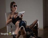 Tatto Lezzies Enjoying Havingsex With Strap On - scene 4