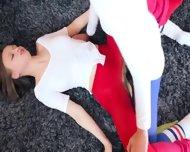 Hot Girlsongirls In Pantyhose Enjoying Strap - scene 10