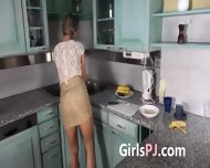 Self Preasuring With Vibrators On The Kitchen - scene 2