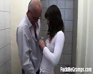 Old Man Fucks Teen Slut - scene 1