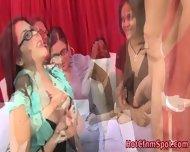 Cfnm Babe Gives Handjob - scene 8