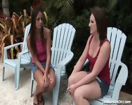 Horny Girlfriends Fucking Each Other With Toys - scene 3