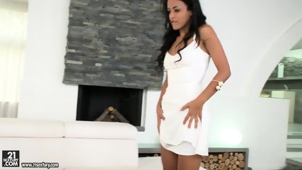 Wild Brunette Plays With Penis - scene 2
