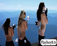 Busty Hot Babes Enjoyed Snow Boarding And Frisky Fishing - scene 8
