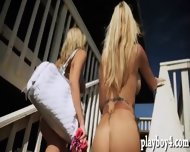 Big Boobs Babes Enjoyed Water Activities And Body Massage - scene 3