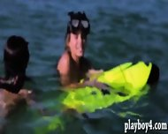 Big Boobs Babes Enjoyed Water Activities And Body Massage - scene 7