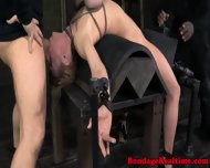 Filthy Submissive Choking On Black Cock - scene 2
