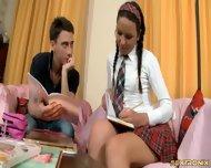 Tutor's Dick In Teenage Anus - scene 1