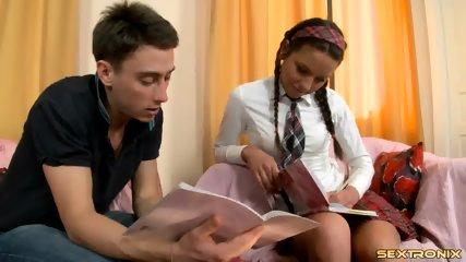 Tutor's Dick In Teenage Anus - scene 2