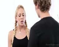 Round Blonde Abused By Masseur - scene 1