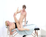 Round Blonde Abused By Masseur
