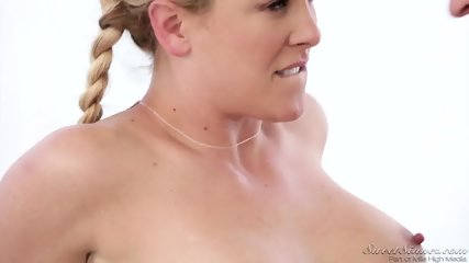 Round Blonde Abused By Masseur - scene 12