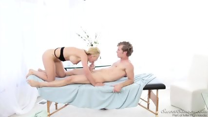 Round Blonde Abused By Masseur - scene 4