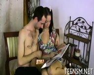 Teen Gets Hot Jizz On Her Body - scene 3
